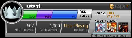 Raptr Gamercard